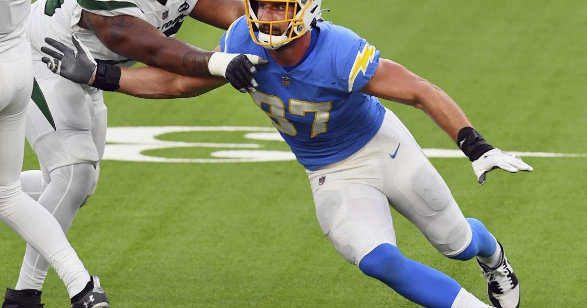 Chargers' Joey Bosa kicking himself for losing his cool against the Jets
