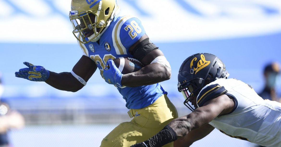 'Angry' Brittain Brown fuels happiness for UCLA's running game