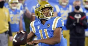 Redshirt freshman Chase Griffin savors his first win as UCLA's starting quarterback