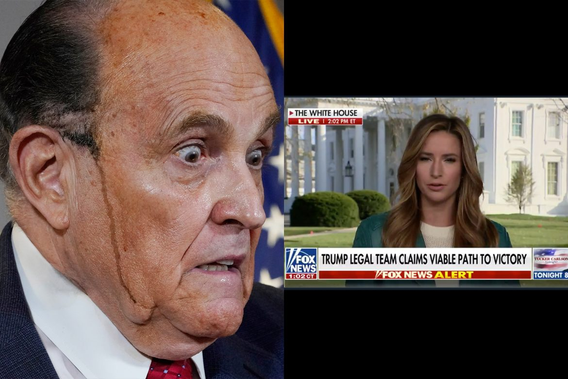 Fox Airs Giuliani Presser in Full Then Reports It Was All a Lie