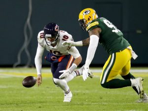 Matt Nagy talked up a new-and-improved Mitch Trubisky, but it sure looked like the same old thing