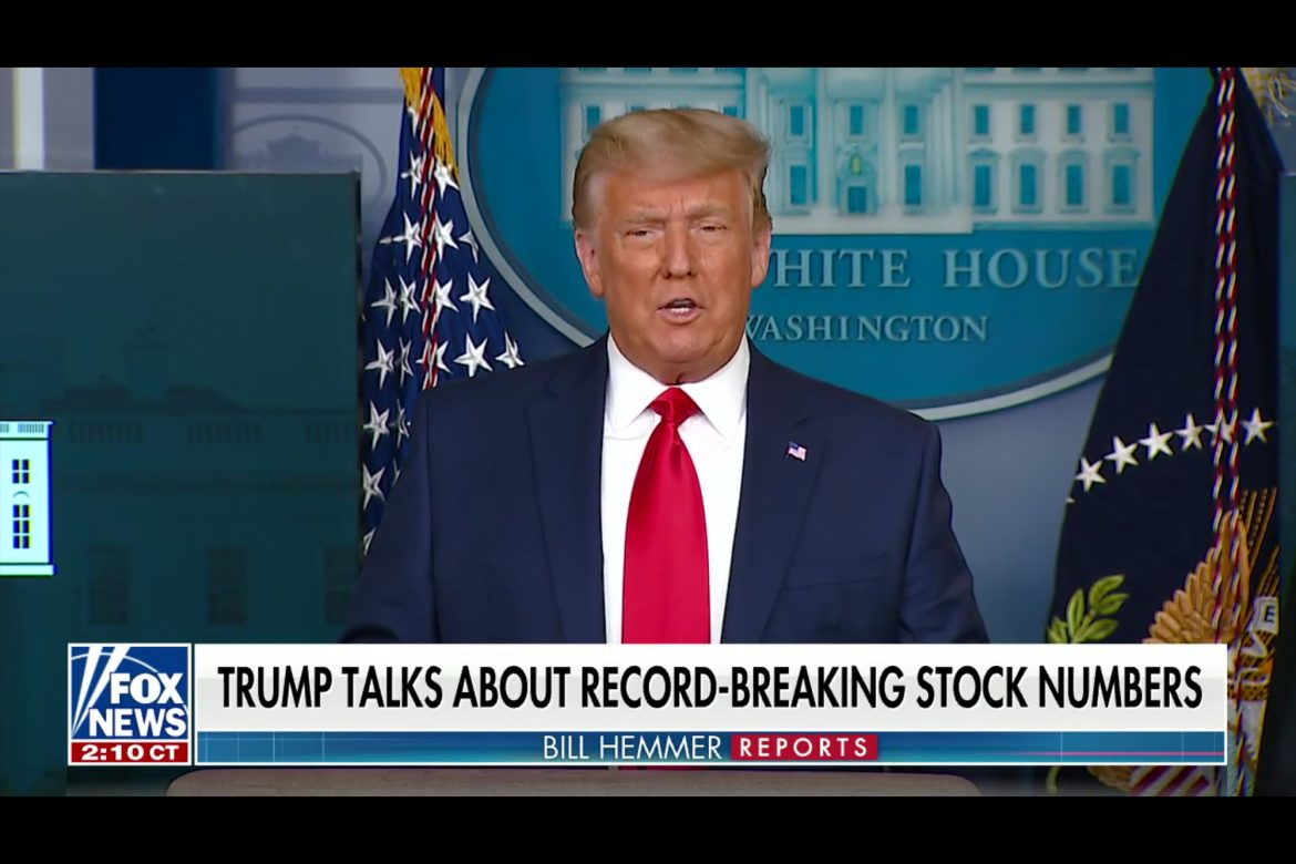 Watch Trump's Stock Market Collapse Prediction Go Down in Flames
