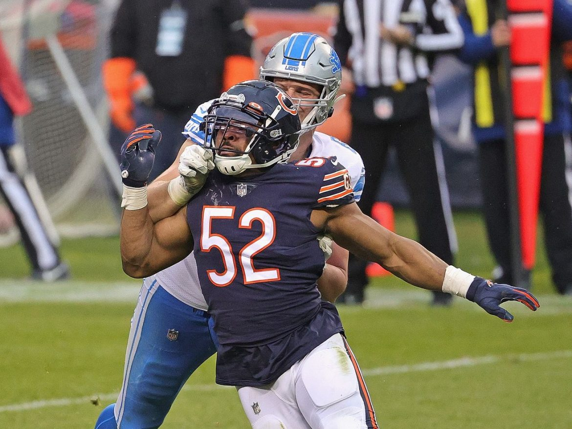 Bears notebook: Khalil Mack day-to-day with shoulder injury