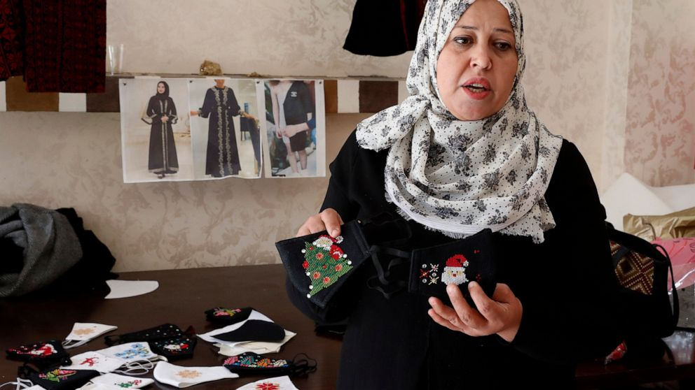 Christmas opens new market for small Gaza sewing business