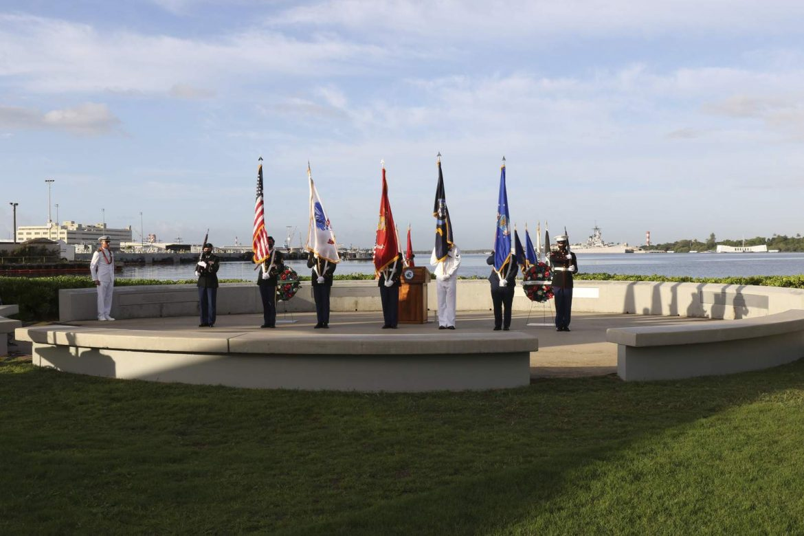 Pearl Harbor dead remembered in ceremony shrunk by pandemic
