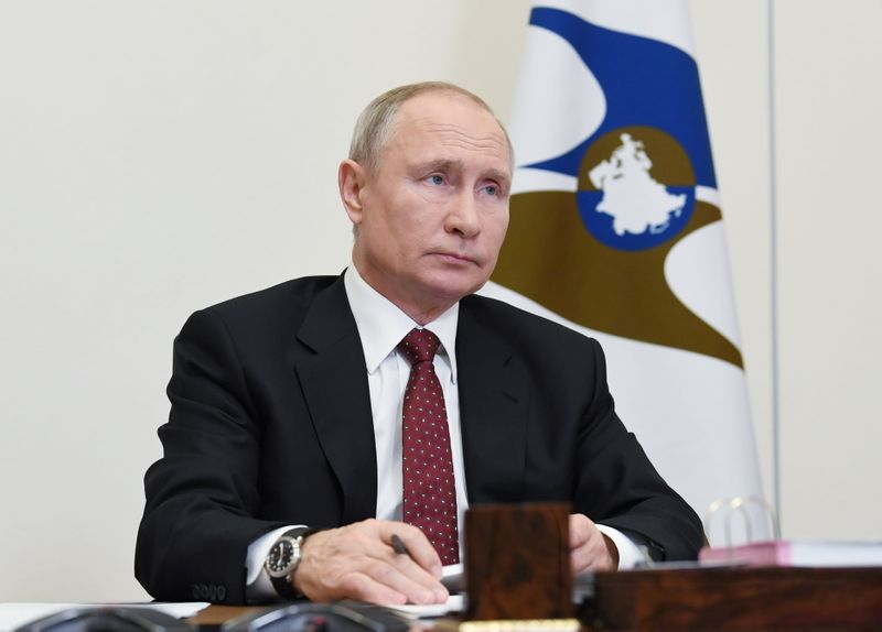 Russia's Putin says real incomes to fall around 3% in 2020