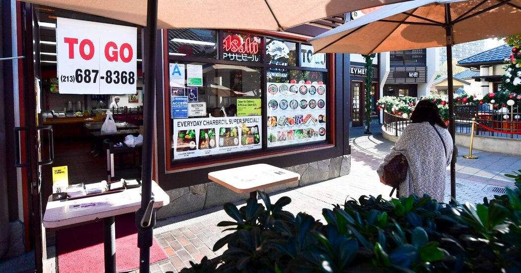 Los Angeles Coronavirus Restrictions on Dining Draw Criticism