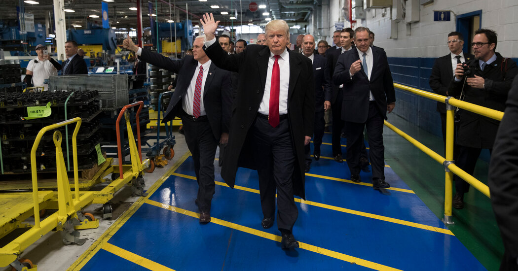 Carrier Plant Is Bustling, but Workers Are Wary as Trump Exits