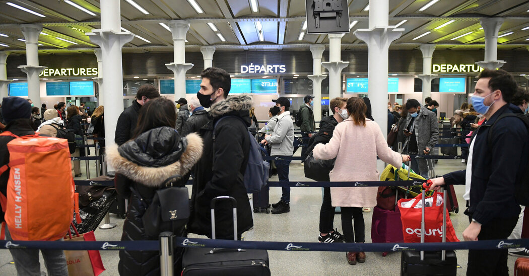 European countries begin barring travelers from the U.K. over concerns of a new coronavirus variant.