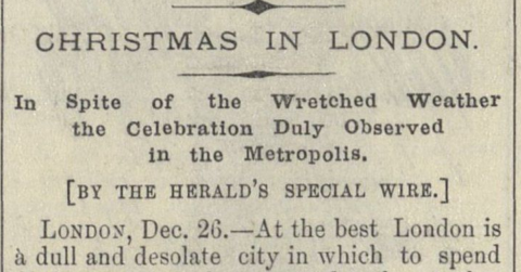 1895: Wretched Weather Mars Christmas in London