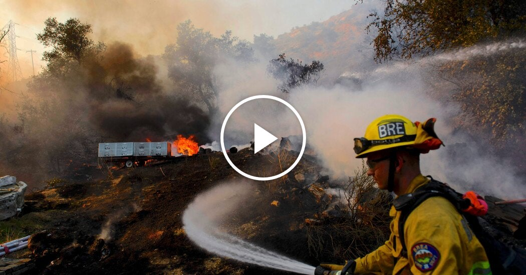 Wildfire Burns in Southern California