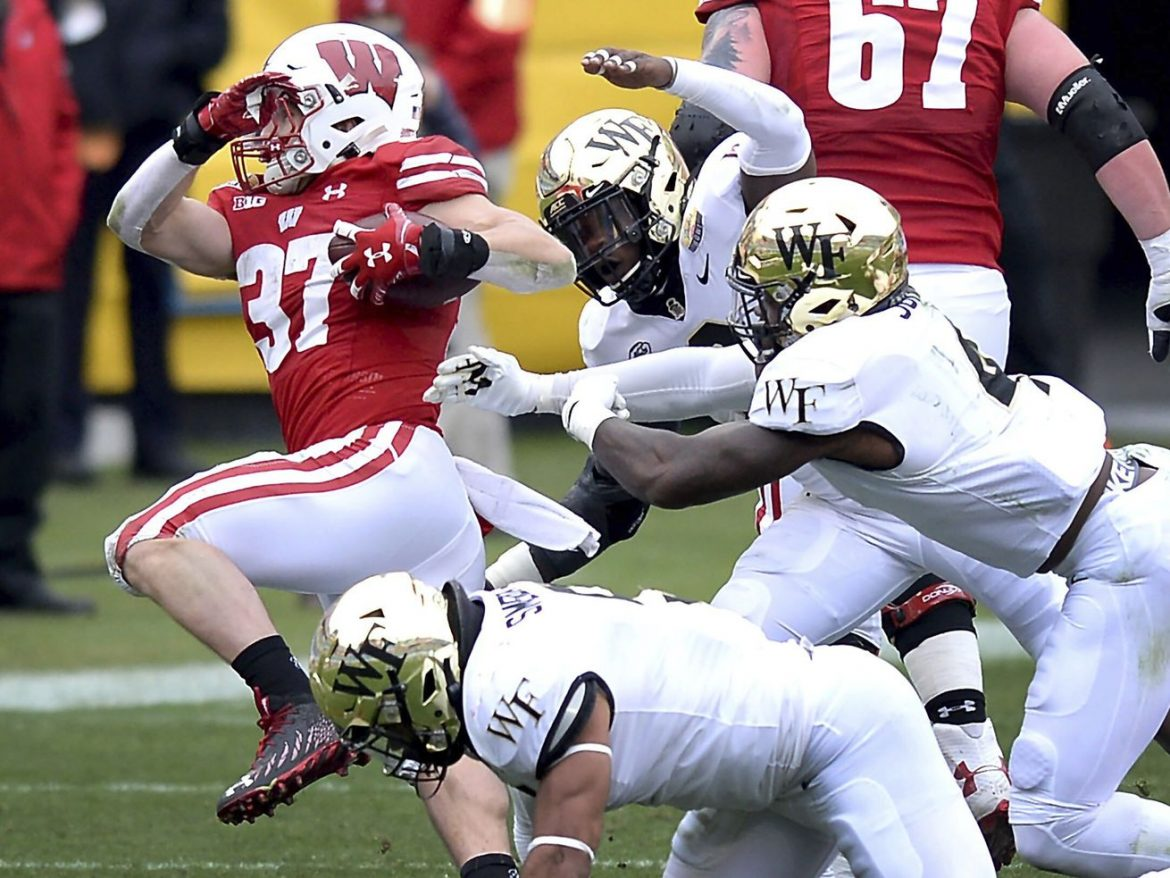 Wisconsin defense gets four interceptions in win over Wake Forest in Duke's Mayo Bowl