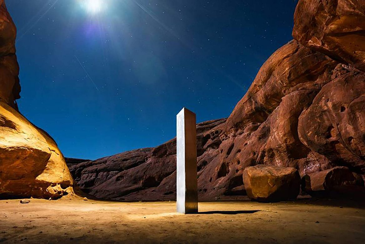 Visitor: Monolith toppled by group who said 'leave no trace'