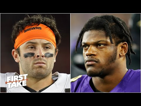 Baker Mayfield or Lamar Jackson: Who is under more pressure to clinch a playoff berth? | First Take