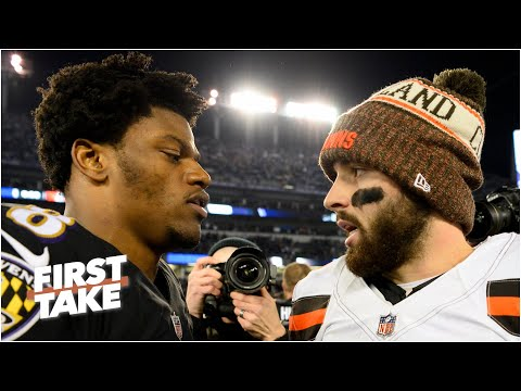 First Take explains why Lamar Jackson & Baker Mayfield face so much pressure in the NFL playoffs