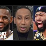 Stephen A.: LeBron's extension is a bigger deal than AD's 5-year deal with the Lakers | First Take