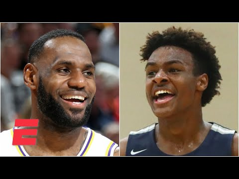 Does LeBron James' new contract mean he and Bronny will play together in the NBA someday?   KJZ