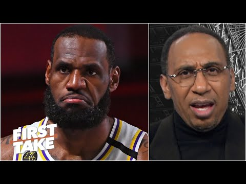 Stephen A. reacts to LeBron saying 2 of his titles are the hardest-won in NBA history | First Take