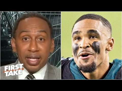 Stephen A. warns Jalen Hurts against 'stinking up the place' vs. the Cardinals | First Take