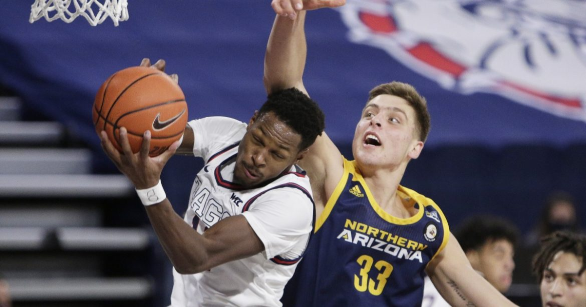 College basketball: Joel Ayayi leads No. 1 Gonzaga over Northern Arizona