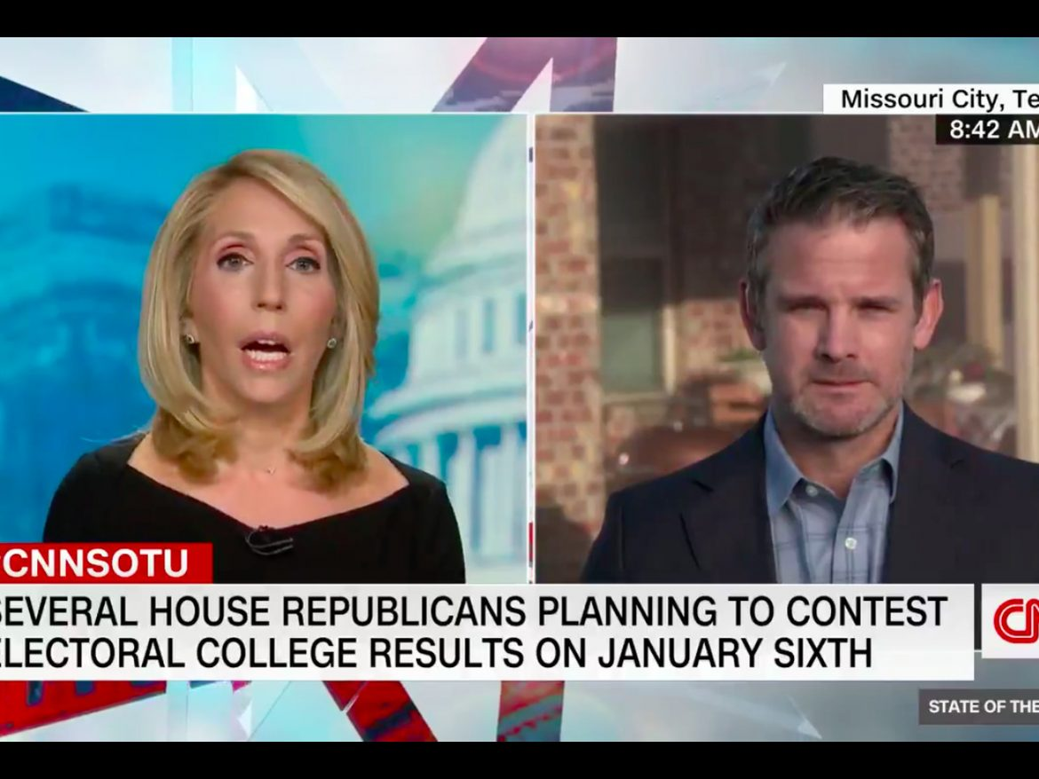 GOP Rep. Adam Kinzinger: Trump, allies' 'grifting scam' Electoral College challenge could lead to violence