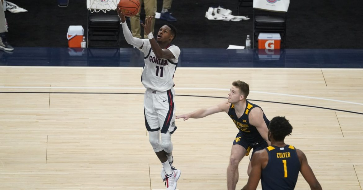 College basketball: No. 1 Gonzaga beats No. 11 West Virginia in Jimmy V Classic