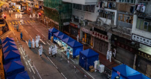 Hong Kong locks down a neighborhood for the first time since the pandemic began.