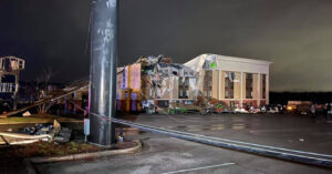 Tornado Hits Alabama City, Wrecking Buildings