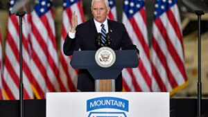 Vice President Pence thanks U.S. troops at Fort Drum