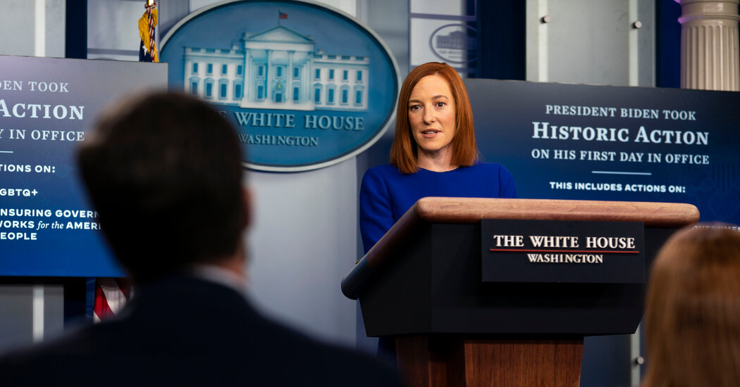 Jen Psaki's Debut: No Attacks, No Lectures, No Crowd Size Fixation