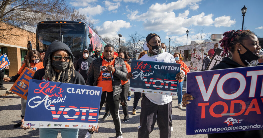 High turnout among Black voters has lifted the Democratic Senate candidates in Georgia.