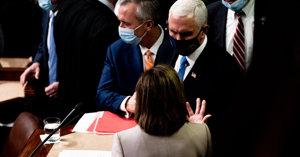 Pence is said to oppose invoking 25th Amendment to strip Trump of his duties.