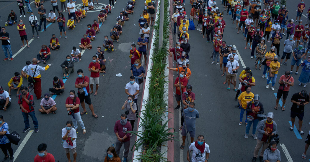 A religious event in Manila draws thousands, raising concerns that it might become a super-spreader event.