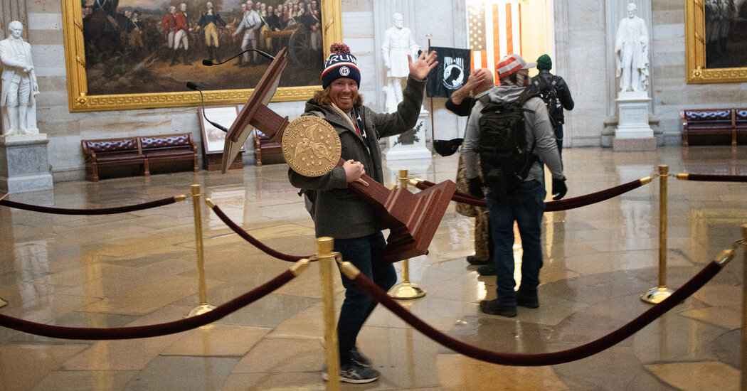 Adam Johnson Arrested in Florida After Carrying Pelosi's Lectern Inside Capitol