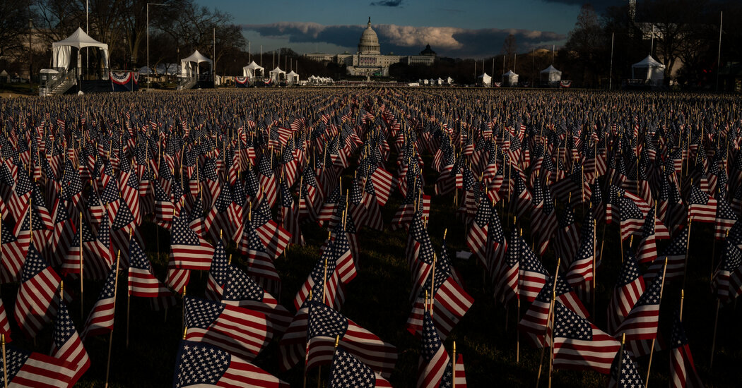 'Field of Flags' on the National Mall represents the people who cannot attend the inauguration.