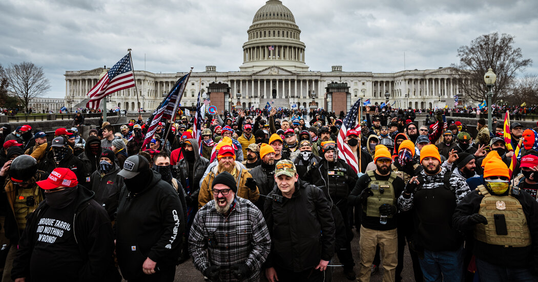 A leader of the Proud Boys was arrested over his role at the Capitol riot.