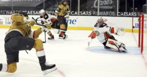 Ducks can't hold back Golden Knights rally in overtime loss