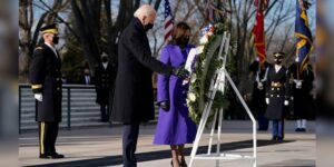 Biden, Harris partake in Arlington wreath laying ceremony