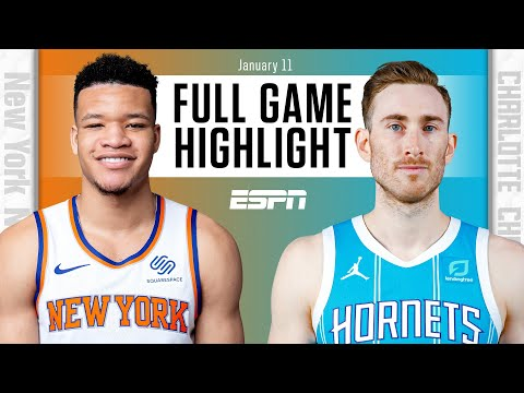New York Knicks vs. Charlotte Hornets [FULL GAME HIGHLIGHTS] | NBA on ESPN
