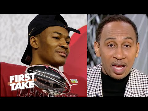 Why Stephen A. says the Jets should draft WR DeVonta Smith with the No. 2 pick | First Take