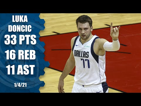 Luka Doncic's first triple-double of 2020-21 [HIGHLIGHTS] | NBA on ESPN
