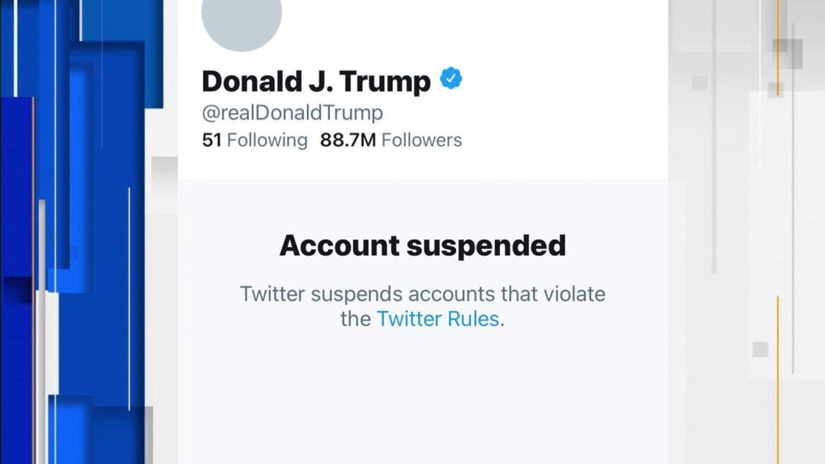 Trump Twitter account permanently suspended