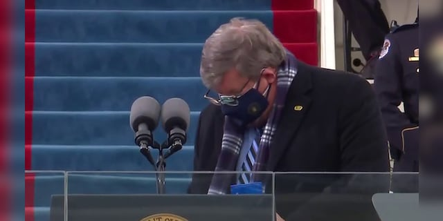Sanitizer in chief: Twitter loves Biden inauguration's mystery podium cleaner