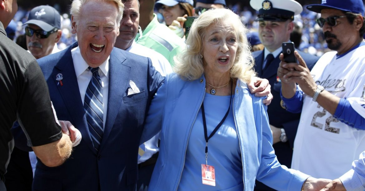 Sandra Scully, wife of Dodgers legendary broadcaster Vin Scully, dies at 76