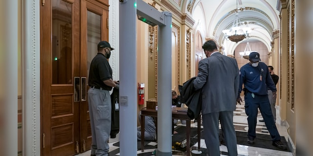 Lawmakers seethe as lines form to pass through House floor metal detectors