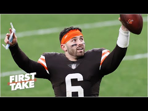 First Take debates Baker Mayfield's chances of upsetting the Steelers in the NFL playoffs