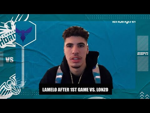 LaMelo Ball on first NBA game vs. Lonzo: 'It was cool to be out there with him'   NBA on ESPN