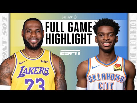 Los Angeles Lakers vs. Oklahoma City Thunder [FULL GAME HIGHLIGHTS] | NBA on ESPN