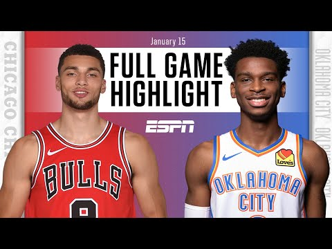 Chicago Bulls vs. Oklahoma City Thunder [FULL GAME HIGHLIGHTS] | NBA on ESPN