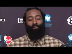 James Harden reacts to his debut with the Nets and playing with Durant : 'I'm very unselfish' | ESPN